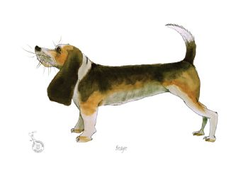 Fun Dog Art Print - Beagle